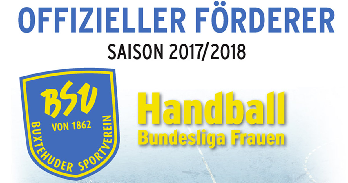Offizieller Förderer der Handballfrauen des BSV Buxtehude