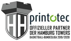 Printotec-offizieller Partner der Hamburg Towers