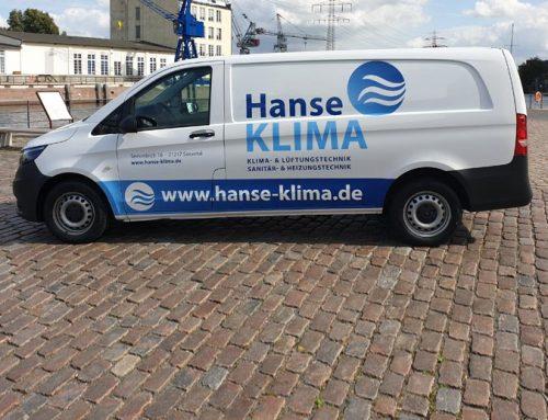 Fahrzeugbeschriftung Transporter Hanse Klima