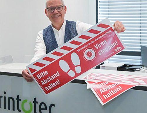 print-o-tec hilft Flüchtlingsverein