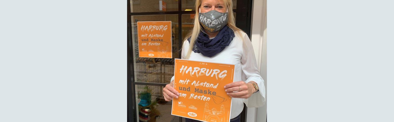 Aufkleber für Harburger Einzelhändler 1