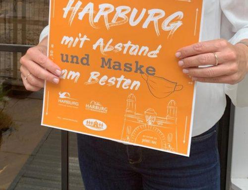 Aufkleber für Harburger Einzelhändler